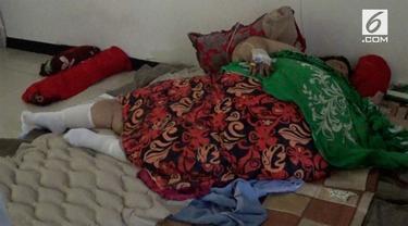 Titi Wati selesai menjalani operasi memperkecil lambung, kini ia dirawat intensif di rumah sakit. Titi tidak tidur di kasur biasa, kasur apakah itu?