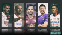 Trivia - Fadil Sausu, Paulo Sergio, Wiljan Pluim, Muhammad Rahmat, Hamka Hamzah (Bola.com/Adreanus Titus)