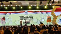 Wapres Ma'ruf Amin menutup Munas Partai Golkar di Jakarta. (Liputan6.com/Yopi Makdori)