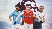 Premier League - Ilkay Gundogan, Mesut Ozil, Jurgen Klinsmann (Bola.com/Adreanus Titus)