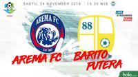 Liga 1 2018 Arema FC Vs Barito Putera (Bola.com/Adreanus Titus)