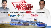 Konser Amal Indonesia Tangguh untuk Kapal Isolasi Terpusat Terapung Covid-19