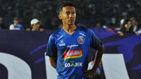 Pemain sayap Arema FC, Dendi Santoso, bertekad menjadi pengumpan yang baik pada Shopee Liga 1 2019. (Bola.com/Iwan Setiawan)