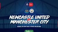 Piala FA: Newcastle United vs Manchester City. (Bola.com/Dody Iryawan)
