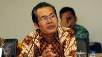 Wakil Ketua KPK, Alexander Marwata menjawab pertanyaan saat rapat dengan pimpinan Komisi Yudisial di gedung Komisi Yudisial, Jakarta.(Liputan6.com/Helmi Fithriansyah)