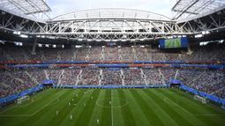 Jumlah penonton yang dapat ditampung stadion ini sebanyak 80.000 orang untuk konser, 67.800 orang untuk pertandingan normal, dan 64.468 orang untuk Piala Dunia 2018. (AFP/Gabriel Bouys)