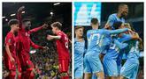 Dua tim papan atas Premier League, Liverpool dan Manchester City sama-sama memetik kemenangan besar atas lawan-lawannya di babak ketiga Piala Liga Inggris, Selasa (21/9/2021). Liverpool menang 3-0 atas Norwich, sementara City melumat Wycombe Wanderers 6-1. (Kolase AP)