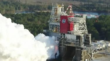 Pengujian Roket Paling Kuat di Dunia. Dok: NASA