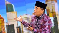 Ketua DPR RI Ade Komarudin saat mengunjungi SCT Tower, Jakarta, Kamis (31/3/2016). (Liputan6.com/Yoppy Renato)