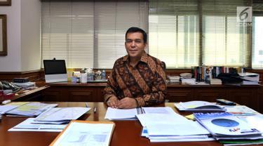 Direktur Utama PT Krakatau Steel (Persero) Tbk Silmy Karim. (Liputan6.com/JohanTallo)