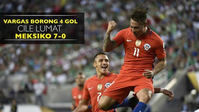 Eduardo Vargas berhasil mencetak 4 gol ke gawang Meksiko dan membuat Cile berhasil masuk ke semifinal Copa America 2016.