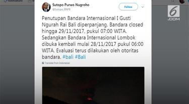 Bandara Ngurah Rai masih mengalami penutupan hingga besok.
