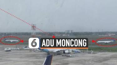 Viral rekaman dua pesawat Garuda saling berhadapan di aprron Bandara Soekarno-Hatta. Pilot Garuda salah mendengarkan instruksi yang diberikan petugas ATC.
