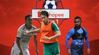 Liga 1 - Ricky Fajrin, Hansamu Yama, Ardi Idrus (Bola.com/Adreanus Titus)
