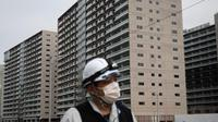 Wisma Atlet Tokyo yang baru dibangun untuk Olimpiade 2020 (AP PHOTO via the Asahi Shimbun)