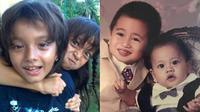 6 Potret Transformasi Adik Kakak Seleb saat Kecil Vs Kini, Kompak Sedari Dulu (sumber: FB Megan Domani Dan Bryan Domani dan Instagram.com/athallanaufal7)