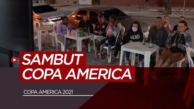 Berita video reaksi warga Brasil setelah dimulainya kompetisi Copa America 2021. Tidak semeriah Euro 2020