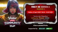Vidio Community Cup Season 3 - Free Fire Series 3. (Sumber : dok. vidio.com)