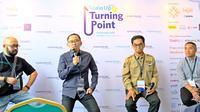 Konferensi pers Scale-up Asia 2019: Turning Point oleh Endeavor Indonesia di The Hall Senayan City, Jakarta, 20 November 2019. (Liputan6.com/Asnida Riani)