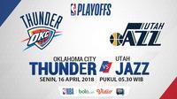 NBA Playoff 2018 Oklahoma City Thunder Vs Utah Jazz Game 1 (Bola.com/Adreanus Titus)