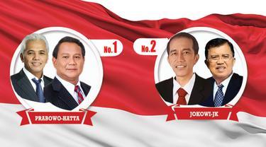 Prabowo-Hatta dan Jokowi-JK