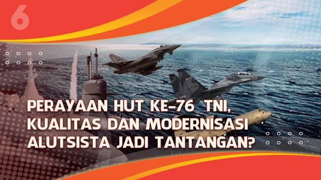 Tentara Nasional Indonesia (TNI) genap berusia 76 tahun pada tanggal 5 Oktober 2021. Beberapa alutsista dipamerkan di sekitar Istana Merdeka kepada masyarakat.