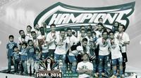 Juara Indonesia Super League 2014: Persib Bandung. (Bola.com/Dody Iryawan)