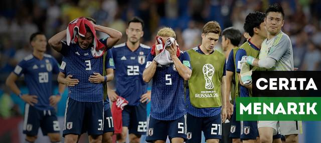Terdapat cerita menari di balik kekalahan Timnas Jepang dari Belgia. Apa itu?
