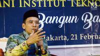 Gubernur NTB,TGB Zainul Majdi memberikan sambutan pada acara Aliansi Strategis antara Alumni Universitas Al-Azhar Mesir dan Alumni Institut Teknologi Bandung (ITB), di Jakarta, Rabu (21/2). (Liputan6.com/Pool/Ihwan)