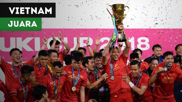 Berita video Vietnam keluar sebagai juara Piala AFF 2018 setelah menang agregat atas Malaysia 3-2, Sabtu (15/12/2018)