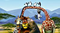 Ilustrasi tokoh hewan sirkus dalam tayangan 'Madagascar'. (Sumber fanartworks.com)