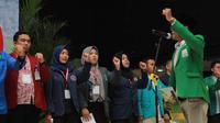 Mahasiswa dari ratusan perguruan tinggi di Indonesia menyerukan sumpah dan tekad kebangsaan di Yogyakarta untuk menjaga keutuhan NKRI (Liputan6.com/ Switzy Sabandar)