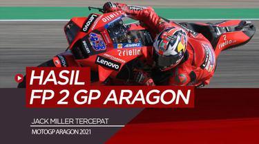 Berita video hasil free practice 2 MotoGP Aragon, Jack Miller catat waktu terbaik, Jumat (10/9/21)