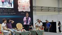 Talkshow tentang Menjaga Laut bersama Menteri Kelautan dan Perikanan Susi Pudjiastuti di JCC, Jakarta, Sabtu (6/4/2019).