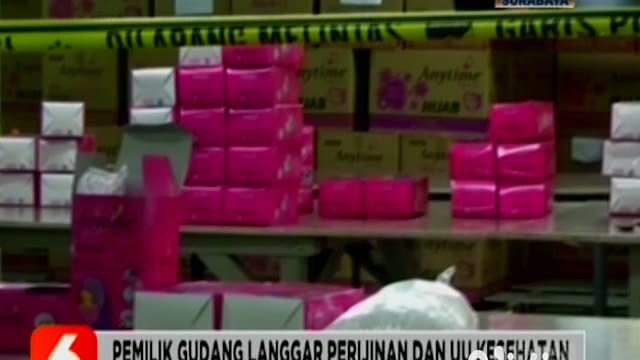 Sementara di Sidoarjo, Jawa Timur, polisi gerebek dan segel gudang pengemasan ulang masker asal Tiongkok tak sesuai Standar Nasional Indonesia atau SNI.