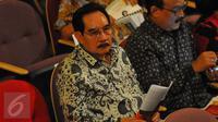 Mantan Ketua KPK, Antasari Azhar saat menghadiri acara HUT Megawati Soekarno Putri ke-70 di TIM, Jakarta, Senin (23/1). HUT Megawati dirayakan dengan menonton pementasan teater kebangsaan Tripikala.(Liputan6.com/Angga Yuniar)