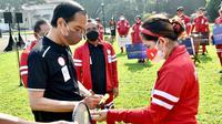 Presiden Joko Widodo menyampaikan apresiasi setinggi-tingginya kepada atlet yang sudah berjuang dan berprestasi di Paralimpiade Tokyo 2020. (dok. NPC Indonesia)