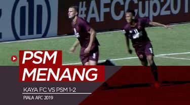 Berita video highlights Grup H Piala AFC 2019 antara Kaya FC melawan PSM Makassar yang berakhir dengan skor 1-2 di Stadion Panaad, Filipina, Rabu (17/4/2019).