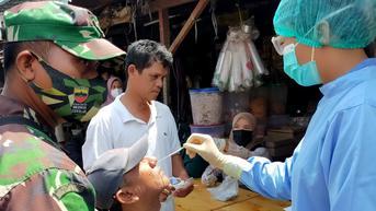 Beraktivitas Tak Pakai Masker, Puluhan Warga Medan Diswab Antigen Covid-19