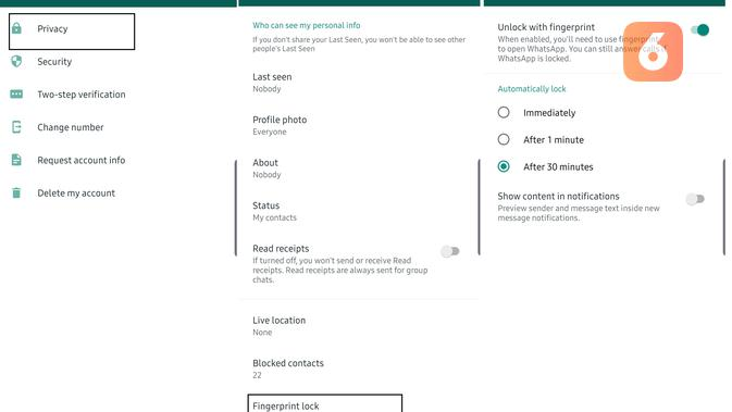 Fitur Fingerprint Scanner di WhatsApp (Liputan6.com/ Agustin Setyo Wardani)