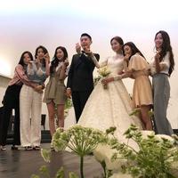 Momen pernikahan Gaeun. (shabet_serri/jjojjo_eun/vida_gray_st/jje)