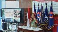 Kepala Pusat Data Informasi dan Humas Badan Nasional Penanggulangan Bencana (BNPB) Sutopo Purwo Nugroho. (Liputan6.com/Nanda Perdana Putra)