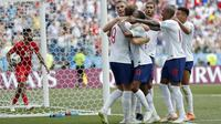 6. Skor 6-1 antara Inggris melawan Panama menjadi kemenangan terbesar pada Piala Dunia 2018 Rusia hingga matchday kedua. (AP/Antonio Calanni)