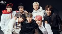 Jelang perayaan debut ke-6 tahun pada 13 Juni nanti. BTS merilis photoshoot yang berbeda dari tahun-tahun sebelumnya (Liputan6.com/facebook/@bangtan.official)