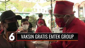VIDEO: Ratusan Warga di Kendal Antusias Mengikuti Vaksinasi Gratis dari Emtek Group
