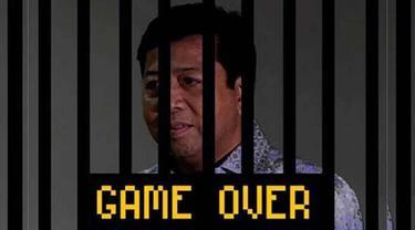 Sidang etik MKD menghasilkan pengunduran diri Setya Novanto sebagai Ketua DPR. Medsos diramaikan oleh meme tentang Setnov berikut ini salah satunya. Game Over (Twitter.com)