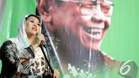 "Yenny Wahid saat menghadiri sarasehan bertema ""Menggali Konsep dan Kebijakan Kemaritiman Presiden Abdurrahman Wahid"", Jakarta, Rabu (7/1/2015). (Liputan6.com/Faizal Fanani)"