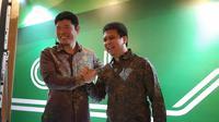 Anthony Tan, Co-Founder and CEO Grab bersama Ridzki Kramadibrata, President of Grab Indonesia. Liputan6.com/Agustin Setyo W