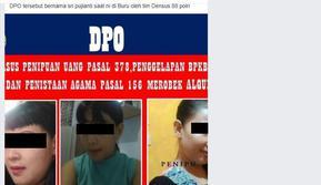 Tangkapan layar mengenai DPO teroris di sebuah akun Facebook. (Foto: Liputan6.com/Istimewa/Muhamad Ridlo)