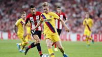 Debut Frenkie de Jong dalam kakalahan Barcelona  0-1 dari Athletic Bilbao di Stadion San Mames, Sabtu (17/8/2019) dini hari WIB. Doc: FC Barcelona
